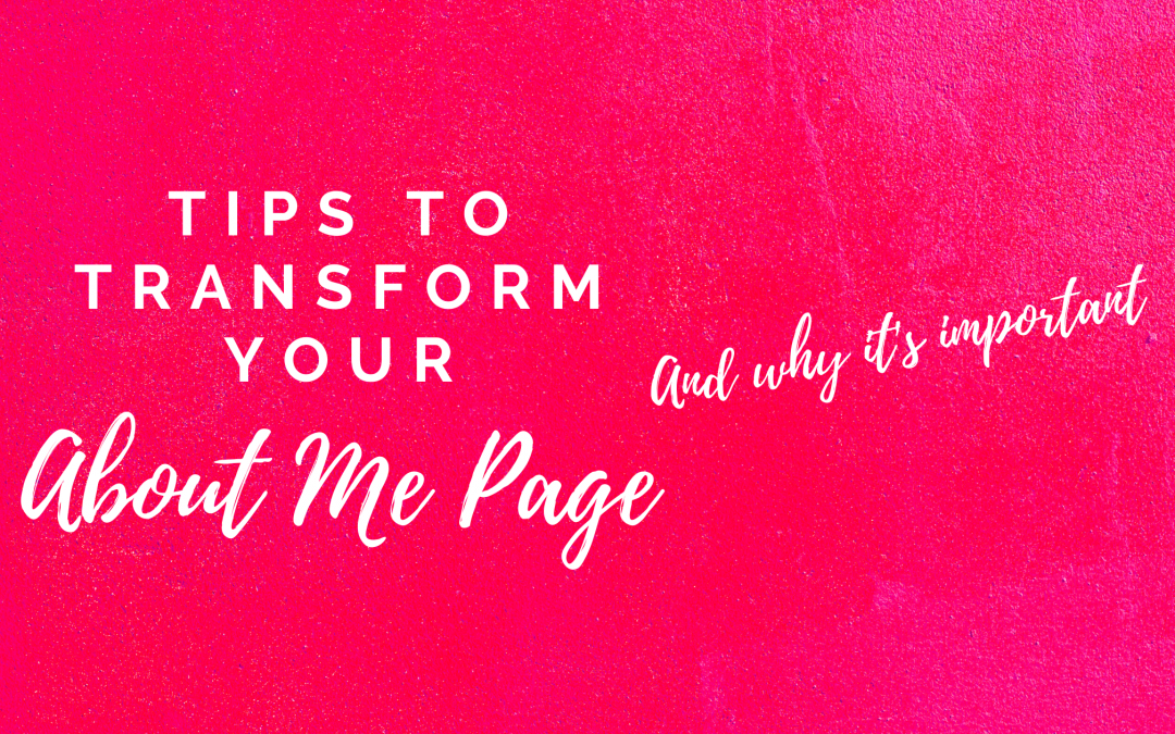 Tips to write an About Me page that connects
