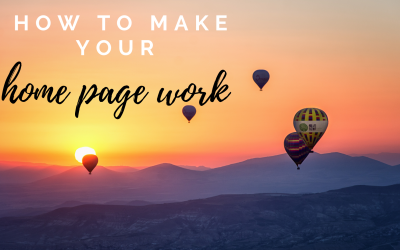 How to make your home page copy work