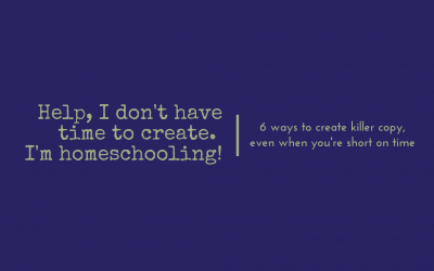 How to make your content creation easier when you're homeschooling